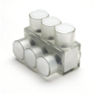Burndy BIBS2/03 Multi-Tap Connector, 3-Port, Insulated, Clear, 14 - 2/0 AWG, 1-Sided