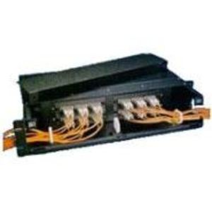 Morris Products 559552-2 Enclosure, Rack Mount, Fiber Optic, 72 Port, Patch Panel, 4RMU