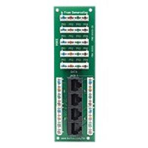 Leviton 47609-4DP Combo, 1 x 4 Bridged Phone Board, 4 Port, Cat5e, Data Board