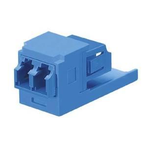 Panduit CMDSLCZBU LC Duplex Fiber Adapter, Sr./Sr., Blue, Min-Com, Zirconia Ceramic