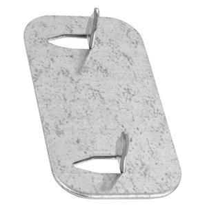 Steel City CP-1 Nail Plate, 1-3/8 x 2-37/64, Steel, 16 Gauge