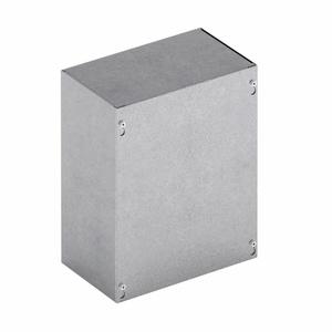 "Cooper B-Line 36366-SCGV-NK Junction Box, NEMA 1, Screw Cover, 36 x 36 x 6"", No KOs, Steel/Gray"