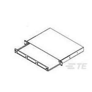 """Tyco Electronics 1435555-1 Enclosure, Rack Mount, Armored Cable, 1 Unit H, 19"""" W, 3 Plates"""