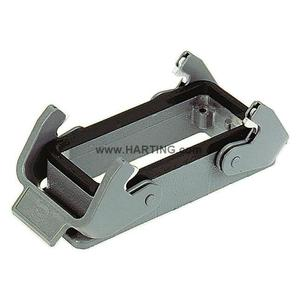 Harting 09300240301 Han B Housing, Bulkhead Mounting, 2 Lever