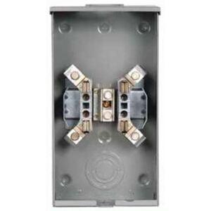 Siemens UAT437-XGF Meter Base, 200A, 4 Jaw, 1PH, 600VAC, 1 Position, Ringless, OH/UG