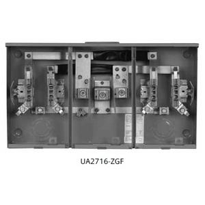 Siemens UA2716-ZGF Meter Base, 2 Gang, 200A, 1PH, 120/240, OH/UG, Steel, NEMA 3R
