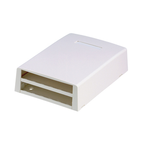 Panduit CBXF12WH-AY Multimedia Outlet Housing, Fiber, Surface, White, 12-Ports