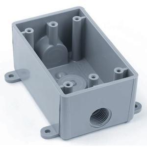 Carlon E381D-CAR Weatherproof Box, 1-Gang, Type: T, Non-Metallic