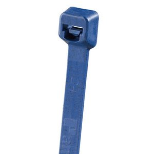 "Panduit PLT1M-C186 Cable Tie, Miniature, 3.9"", Polypropylene, Dark Blue"