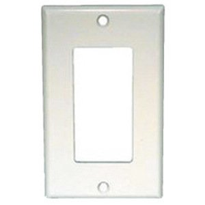 Mulberry Metal 97401 Decora Wallplate, 1-Gang, Stainless Steel