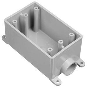 "Carlon E980FFN Weatherproof Box, 1-Gang, Type: FSE, (1) 1"" Hubs, Non-Metallic"
