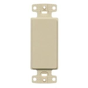 Hubbell-Premise NS620I Blank Decora Adapter, No Hole, Plastic, Ivory