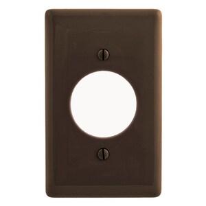 "Hubbell-Wiring Kellems NP720 Locking Receptacle Wallplate, 1-Gang, 1.6"" Opening, Nylon, Brown"
