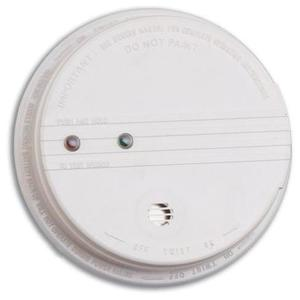 Kidde Fire 21006371 Photoelectric Smoke Alarm, 120V AC, 9V Battery Backup, White