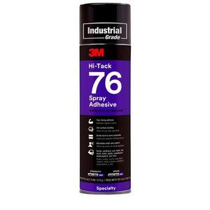 3M 76 High-Tack Spray Adhesive, Clear, 18.1 oz, Aerosol Can