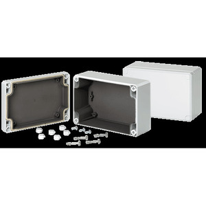 "Hoffman Q1286PCEMC Junction Box, NEMA 4X, Screw Cover, 4.72 x 3.15 x 2.17"""