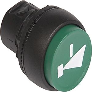 Allen-Bradley 800FP-E3 Push Button, Extended, Green, Plastic, Operator Only
