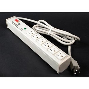 Wiremold M6BZ-15 Computer Grade Surge Protector, 6-Outlets, 6' Cord, Putty  White