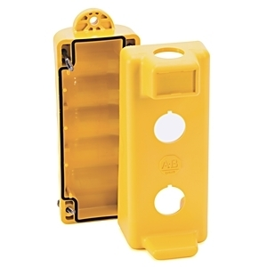 Allen-Bradley 800F-P25 Pendant Station, Enclosure, 2-Hole in Face, Yellow, Plastic, IP66
