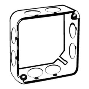 "Steel City 53151-3/4 4"" Square Extension Ring, 1-1/2"" Deep, Drawn, Metallic"