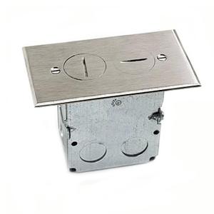 Lew SWB-2-NS Duplex Receptacle, 1-Gang, Floor Box Assembly