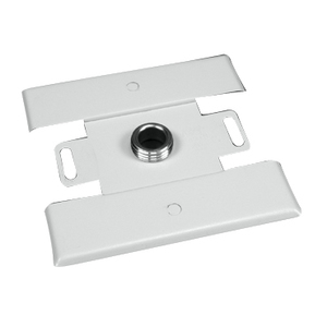 Wiremold 2451H-WH Raceway Back Feed Fitting, 2400 Series, Steel, White