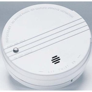 "Kidde Fire 0915E Smoke Alarm, 9V Battery, 85dB @ 10', Diameter: 5"", White"