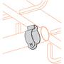 "Cooper B-Line BL1430 Conduit Hanger With Bolt, Rigid: 1-1/4"", EMT: 1-1/2"", Steel/Zinc"