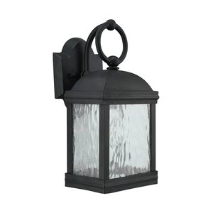 Sea Gull 88190-802 1-Light Outdoor Wall Lantern, 100W, 120V, Obsidian Mist
