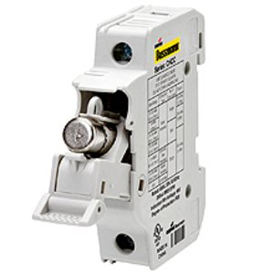 Eaton/Bussmann Series CHCC1DI-48U Fuse Holder, Modular, Class CC Fuses, Indication, 1-Pole, 40A 48VDC