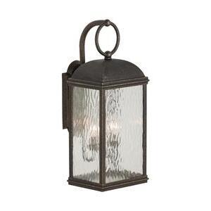 Sea Gull 88192-802 2-Light Outdoor Wall Lantern, 40W, 120V, Obsidian Mist