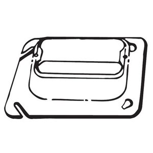 """Steel City 72-C-15 4-11/16"""" Square Cover, 1-Device, Mud Ring, 1"""" Raised, Drawn"""