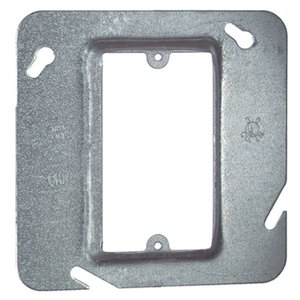 "Steel City 72-C-14 4-11/16"" Square Cover, 1-Device, Mud Ring, 3/4"" Raised, Drawn"