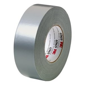 3M 6969-2X60 Utility Duct Tape, 48mm x 54.8m, Silver, 10.7 mil