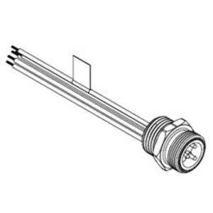 Woodhead 1R3006A20A1201 Receptacle, Mini Change, 3 Pin, A-Size, Male, Straight, 16-3 PVC