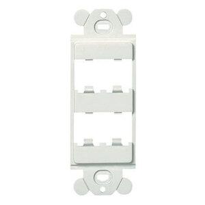 Panduit CFG4IW Wallplate Insert, 4 Port, Mini-Com, Modules, Off White