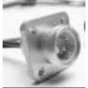 Woodhead 1R2006A20A1201 Receptacle, Mini Change, 2 Pin, A-Size, Male, Straight, 16-2 PVC