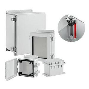 """Hoffman A12106PHCW Hinged-Cover Enclosure w/ Clear Window, 12.08"""" x 10.08"""" x 6.35"""""""