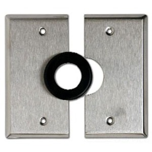 "Mulberry Metal 97626 Split Wallplate, 1"" Opening, 2-Gang, Stainless Steel"