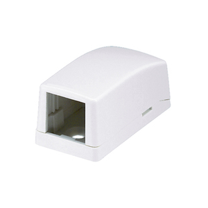 Panduit CBX1IW-A Multimedia Outlet Housing, Low Profile, Surface, Off White, 1-Ports