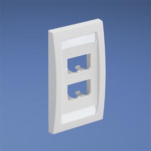 Panduit CFPE4EIY Wallplate, Executive, 1-Gang, 4-Port, Box Mount, Mini-Com, Ivory