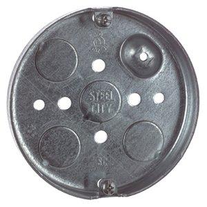 """Steel City 56111 4"""" Ceiling Pan, 1/2"""" Deep, 1/2"""" KOs, Metallic"""