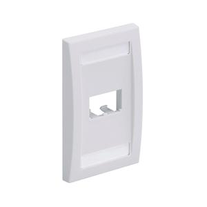 Panduit CFPE2IWY Wallplate, Executive, 1-Gang, 2-Port, Box Mount, Mini-Com, White