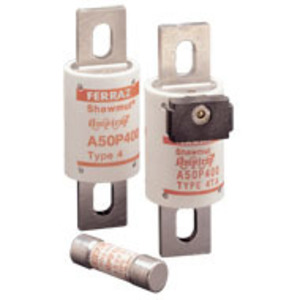 Mersen A50P600-4 Fuse, 600A, 200VAC, P Style, Semi-Conductor, Bolt On, Blades