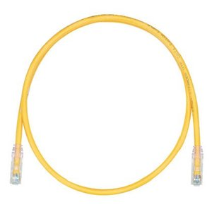 Panduit UTPSP3YLY Copper Patch Cord, Cat 6, Yellow UTP Cab