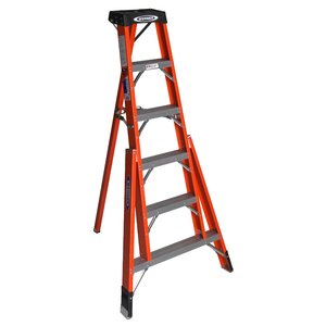 Werner Ladder FTP6208 8' Tripod Step Ladder, Type IA, 300 lbs