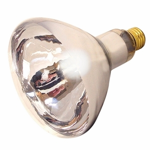 Satco S4750 Incandescent Heat Lamp, R40, 125W, 120V, Clear