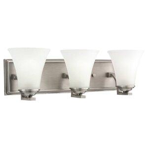 Sea Gull 44376-965 Bath Light, 3 Light, 100W, Antique Brushed Nickel