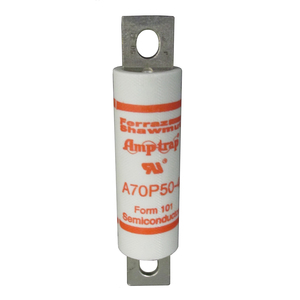 Mersen A70P500-4 Fuse, 500A, 700VAC, P Style, Semi-Conductor, Bolt On, Blades