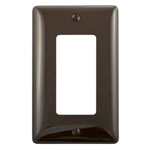 Hubbell-Bryant NP26 Decora Wallplate, 1-Gang, Nylon, Brown